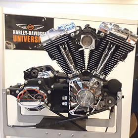 A Harley-Davidson Evolution engine