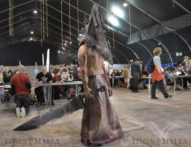 A comic fan is dressed as a character at the Malta Comic Convention held in Ta' Qali on December 3. Photo: Mark Zammit Cordina