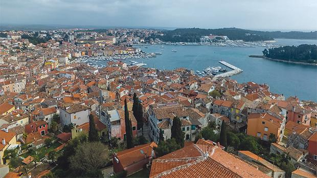 The view from the steple of Sta Euphemia church in Rovinj.