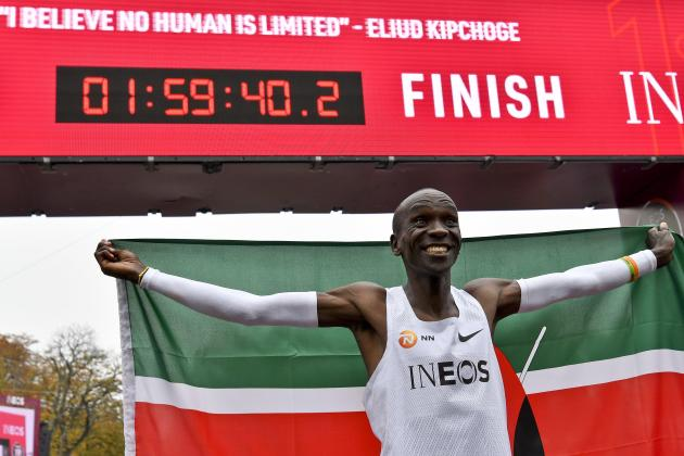 Watch: Kenya's Kipchoge becomes first to run marathon in under two hours