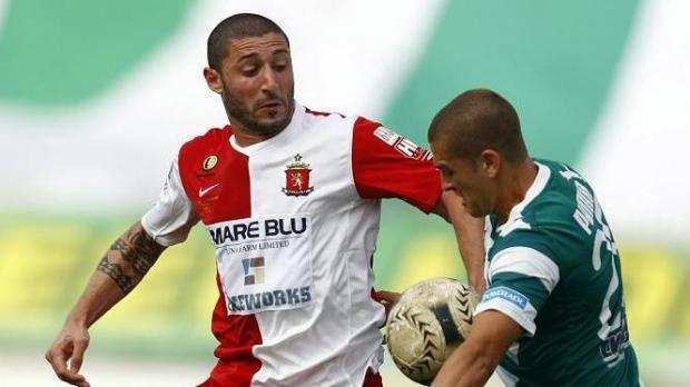 Valletta player Terence Scerri, left.