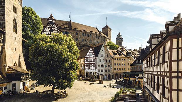 The imposing castle in Nuremberg. Photo: Niklos Uwe