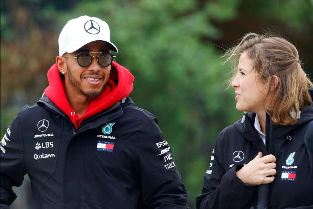 Lewis Hamilton, of Mercedes, clocked the fastest time after the opening day of practice.