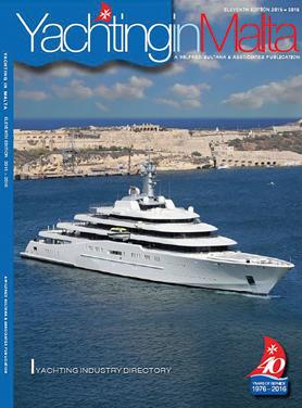 The front cover showing Chelsea FC owner Roman Abramovich's yacht Eclipse in Malta. Photo: Capt. Lawrence Dalli
