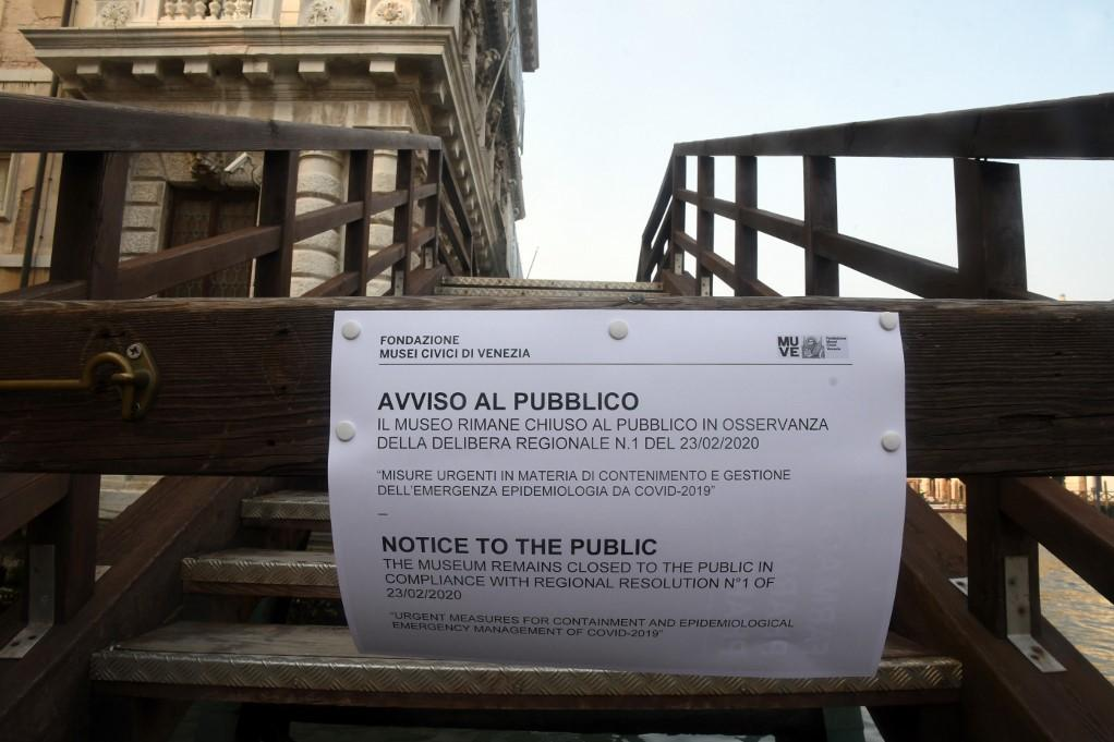 Attractions and museums in Venice have been closed to the public. Photo: AFP