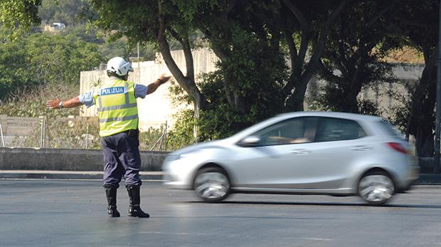 Contraventions relating to the penalty point system require an enforcement officer to stop the vehicle. Photo: Matthew Mirabelli