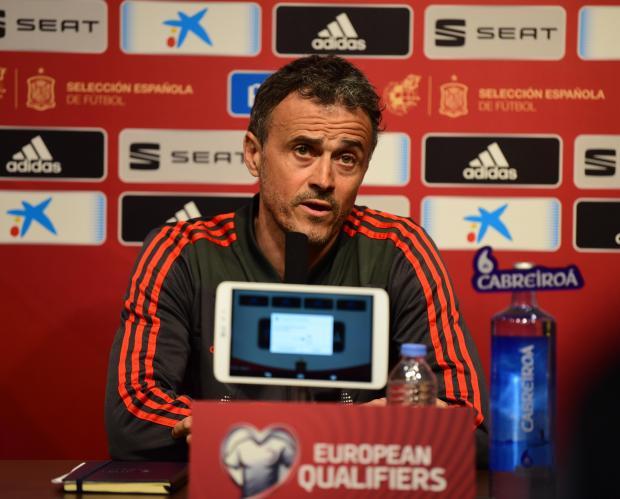 Luis Enrique, Spain's coach. Photo: Mark Zammit Cordina