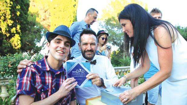Best Dad Ian Cochrane with Jacob Cachia, who nominated him, and Andrea Critien from the Malta Baby & Kids Directory.