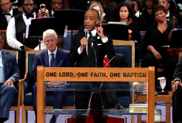Rev. Al Sharpton speaks. Photo: Reuters