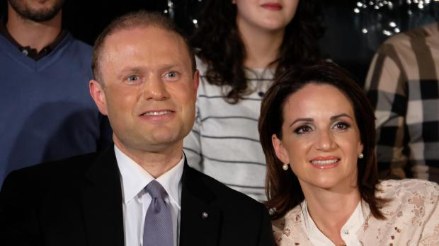 Dr Muscat and his wife Michelle.