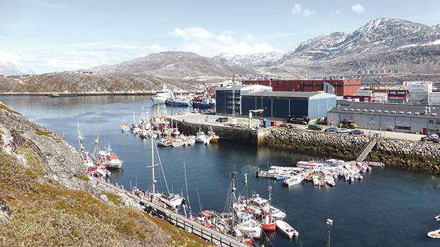 A general view of the port of Nuuk, Greenland. Photo: Reuters