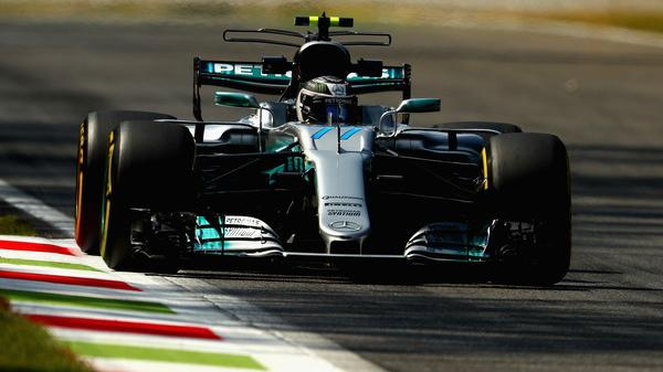Valtteri Bottas driving the (77) Mercedes AMG Petronas F1 Team Mercedes F1 WO8 on track during practice for the Formula One Grand Prix of Italy