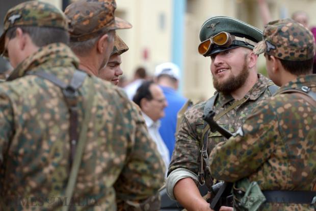 Military re-enactors participate in the Fish Festival in Zurrieq held on June 5. Photo: Matthew Mirabelli