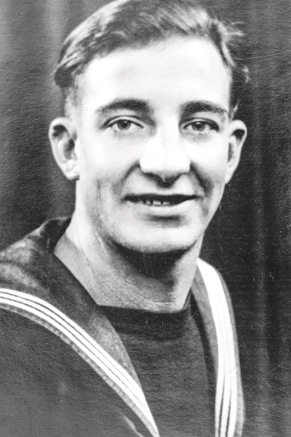 Lewis Lloyd Kerry, leading telegraphist, Royal Navy.