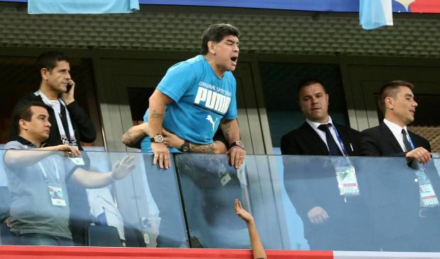 Diego Maradona during that match against Nigeria.