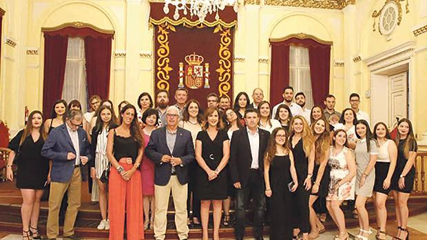 The students and staff from the project partners who took part in the first intensive programme in Melilla, the Spanish enclave in North Africa.