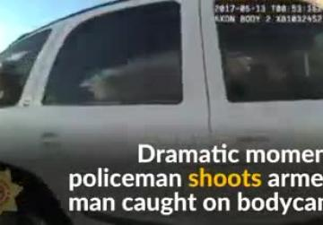 Shooting of armed man caught on dramatic US police bodycam video