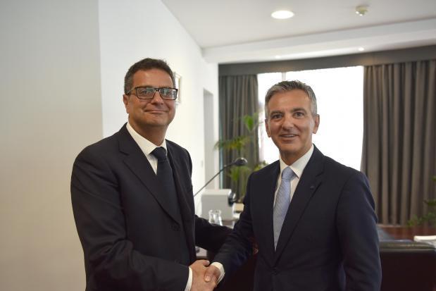 PN leader Adrian Delia and his predecessor Simon Busuttil