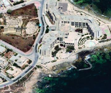 An aerial view of the Jerma Palace hotel. Photo: Planning Authority