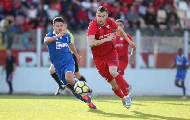 Bojan Kaljevic (right) will feature for Valletta for the next three seasons.