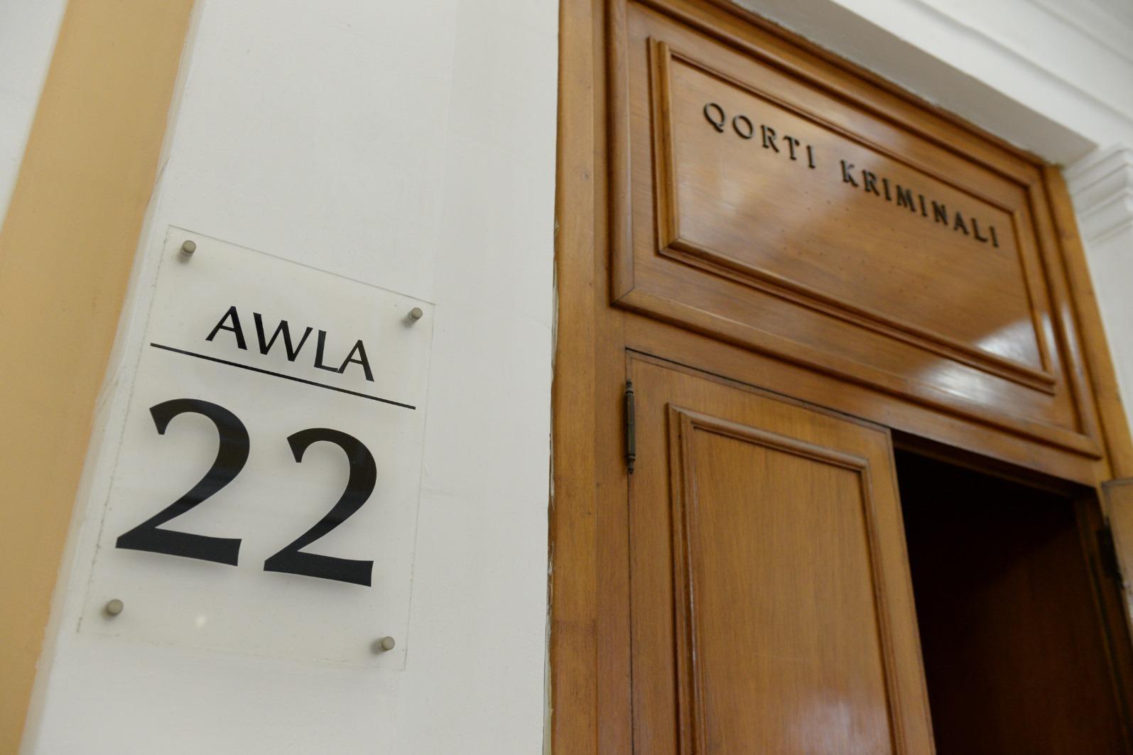 Hall 22, where Muscat registered his guilty plea. Photo: Matthew Mirabelli