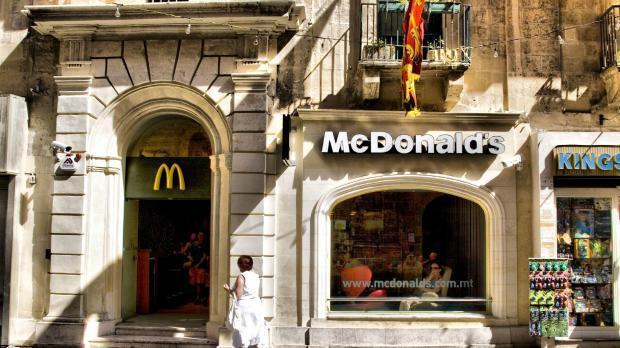 Valletta's McDonald's outlet will close on Sunday.