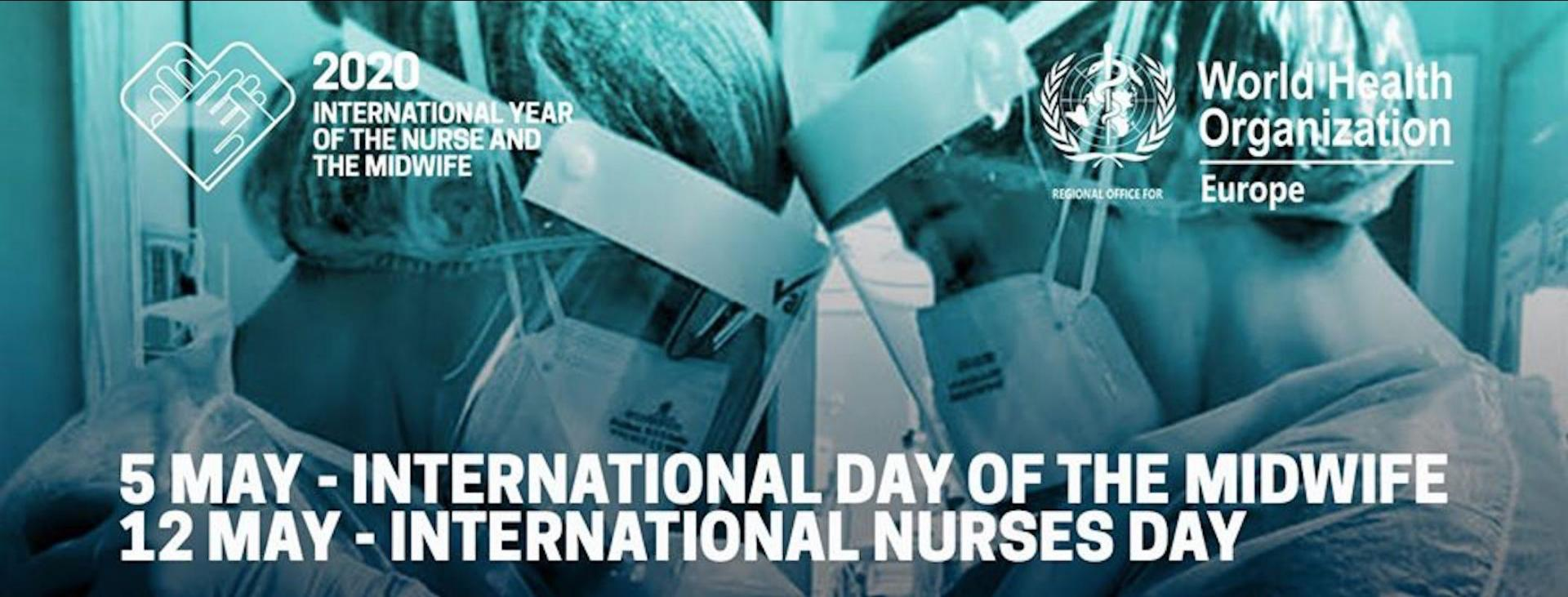 WHO will be using the viral photo to celebrate midwives and nurses.