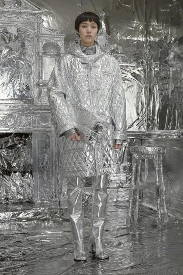 Silver everywhere you looked at MM6 Maison Margiela. Photo: London Fashion Week