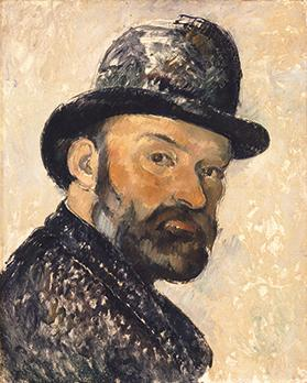 Self-Portrait in a Bowler Hat, by Cezanne.