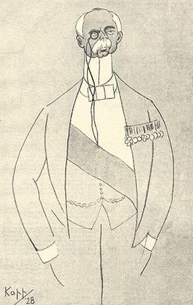 Lord Plumer portrait impression by Edmond Kapp, 1928.