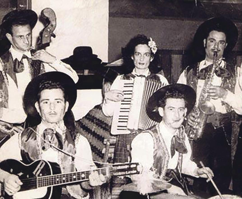 Agatha Barbara played the accordion with the Żabbar band. Photo courtesy of Joan Barbara