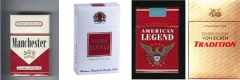 How much do Dunhill cigarettes cost in Virginia