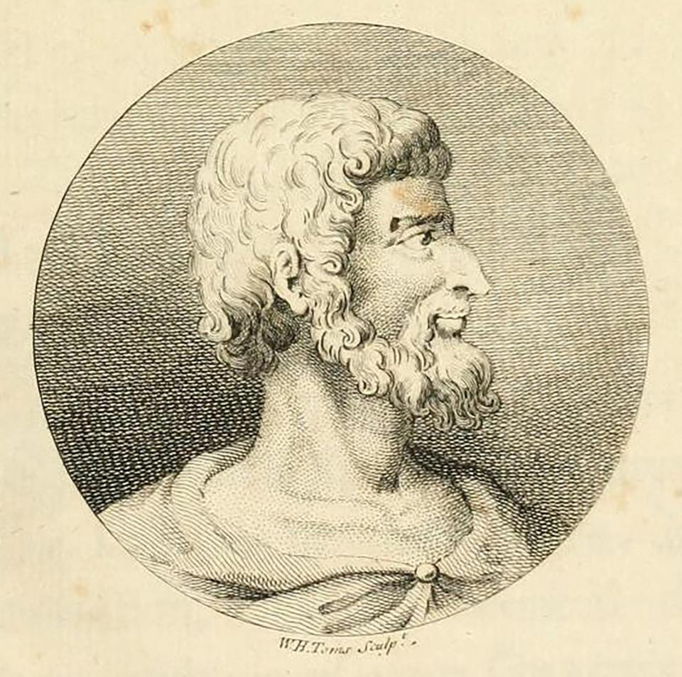 Callimachus as depicted in an engraving by William Henry Toms.