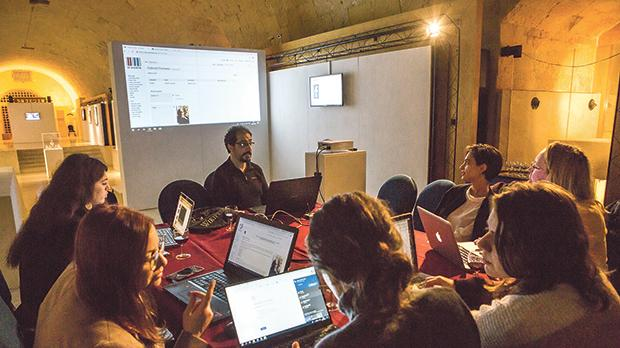 A wiki editing workshop, part of Wiki Loves Art 2019 – Art from the Fondazzjoni Kreattività Collection.