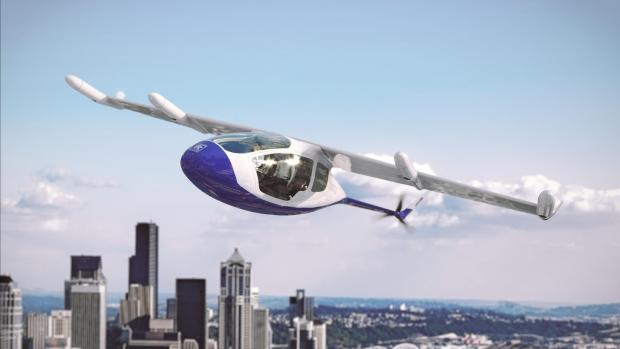 Conceptual illustration of the new Rolls Royce flying taxi.