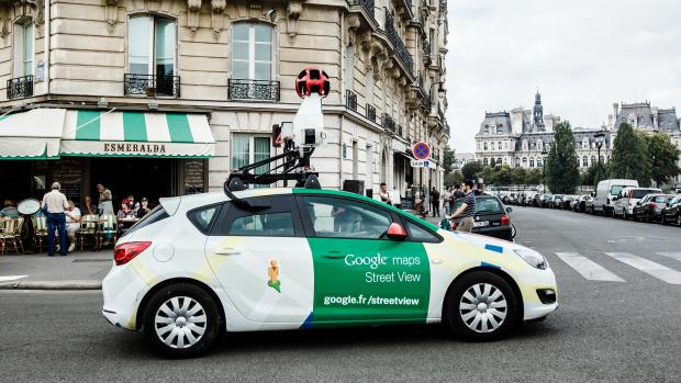 A Google car on the streets of Paris.