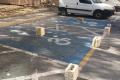 Disabled parking bays at Ta' Qali blocked off