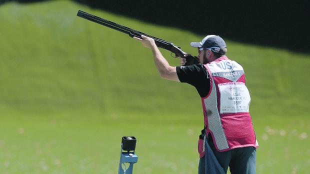 Vincent Hancock won the gold medal in skeet at the ISSF World Cup in Siġġiewi.
