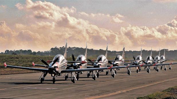 The Polish Air Force Orlik Aerobatic Team at the Malta International Air Show. Photo: Joe Ambrogio