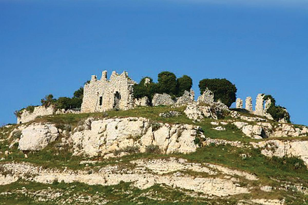 The ruins of a castle.