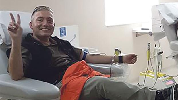 Luciano Bianco has been donating blood since he was 18.