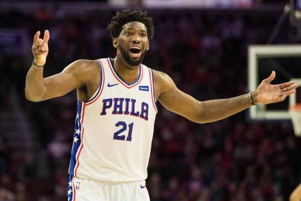 Joel Embiid had a season-high 42 points to go along with 18 rebounds and four blocked shots to lift the Philadelphia 76ers past the visiting Charlotte Hornets 133-132.