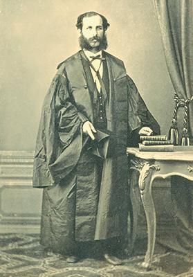 The photo of Dr Salvatore Luigi Pisani taken by Leandro Preziosi on his graduation in medicine and surgery on November 26, 1850.