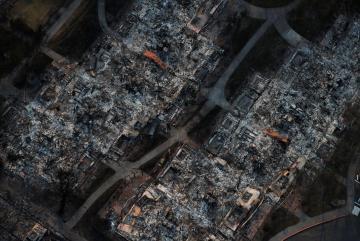 The devastation in Santa Rosa. Photo: Reuters