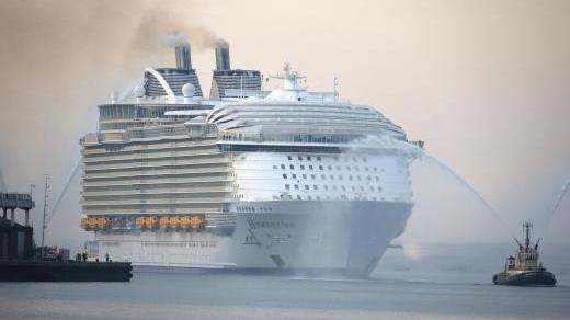 World S Biggest Cruise Ship To Sail The Mediterranean