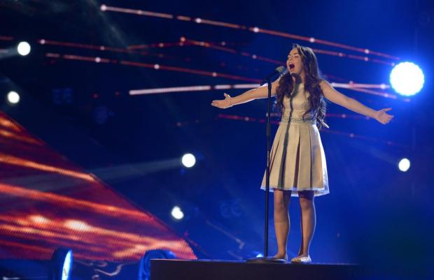 Malta's Federica Falzon performs the song 'Diamonds' at the final of the Junior Eurovision Song contest at Marsa on November 15. Photo: Matthew Mirabelli