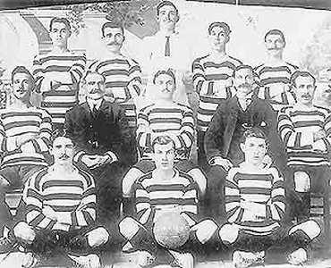 The only known photograph of St Joseph`s United, one of the original five members of the Maltese Football League in 1909-10. Back row: Caruana, Rizzo, Psaila, Caruana, J. Troisi. Centre: Vella, Bonello, Sammut, Ferrante, Azzopardi. Front: Briffa, Salvu Troisi, Wilfred Caruana.