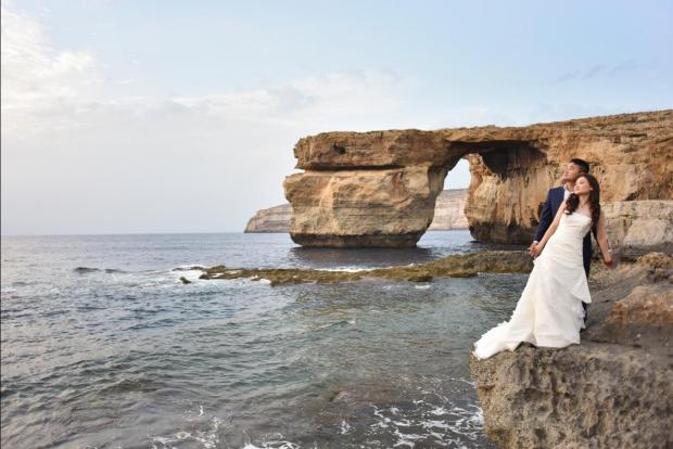 Many foreigners used to opt for Gozo as a location for post wedding and commercial photo shoots. Photo: Matt Hush, Hush Studios