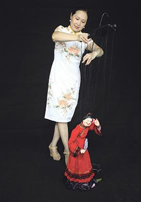 Chinese marionette puppet art.