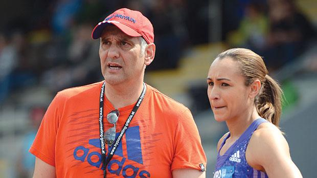 Athletics coach Toni Minichiello with heptathlon champion Jessica Ennis-Hill.